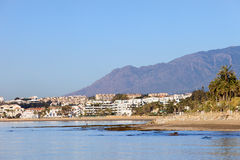 Puerto Banus Skyline in Spain Royalty Free Stock Image