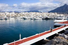 Puerto Banus in Spain Royalty Free Stock Photos