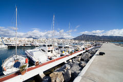 Puerto Banus in Spain Stock Images