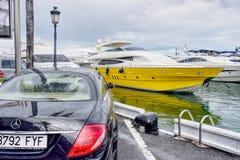 Puerto Banus Marbella in Spain royalty free stock photos
