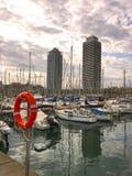 puerto Barcelona del yate Foto de archivo