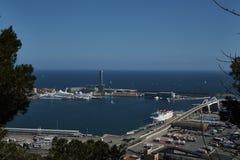 Puerto Barcelona España Foto de archivo