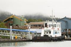 Puerto brumoso en Alaska Imagen de archivo