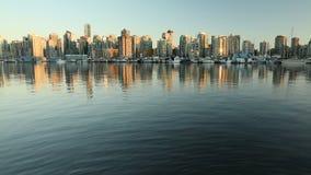 Puerto céntrico del carbón de la oscuridad de Vancouver almacen de video