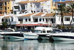 Puerto Cabopino harbour, Spain. Royalty Free Stock Photo