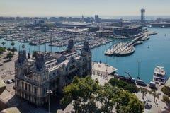 Puerto Catalunia España de Barcelona Fotografía de archivo libre de regalías