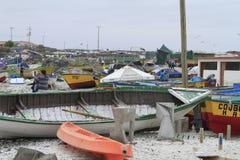 Puerto cerca del La Serena Chile foto de archivo