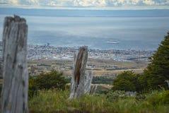 Puerto Chacabuco Landscape stock photo