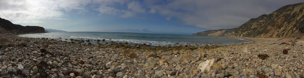 Puerto chino de Santa Cruz Island Panorama Fotografía de archivo