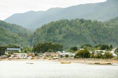 Puerto Cisnes - il Cile Immagini Stock