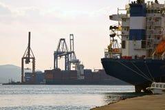 Puerto comercial Imagen de archivo libre de regalías