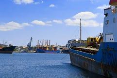 Puerto comercial Imagen de archivo