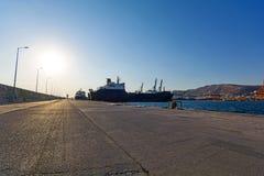 Puerto comercial Foto de archivo libre de regalías