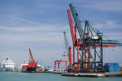 Puerto comercial Imagenes de archivo