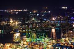Puerto comercial de Singapur Fotos de archivo