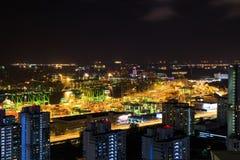 Puerto comercial de Singapur Foto de archivo libre de regalías