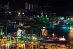 Puerto comercial de Singapur Foto de archivo