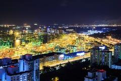 Puerto comercial de Singapur Imagenes de archivo