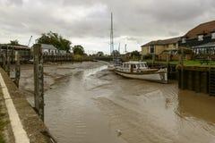 Puerto con marea baja, Rye del río Imagen de archivo libre de regalías