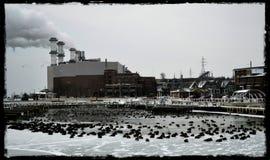 Puerto congelado Fotos de archivo