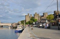 Puerto Conwy y castillo Foto de archivo libre de regalías