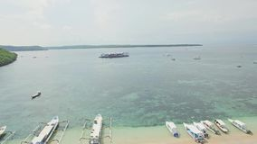 Puerto Coral Reef Buyuk Tropics Aerial 4k almacen de video