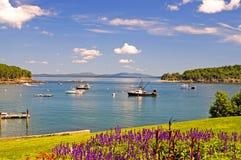 Puerto costero de Maine Imagen de archivo