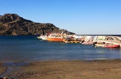 Puerto Crete de Plakias imagenes de archivo