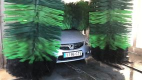 Automatic car wash stock video footage