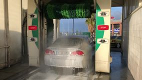 Automatic car wash stock video