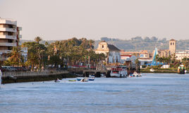 Puerto de圣诞老人Maria.Cadiz.Spain 免版税库存图片