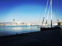 Puerto de巴塞罗那 库存照片