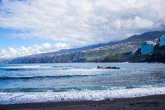 Puerto de Λα Cruz, Tenerife νησί, Ισπανία στοκ φωτογραφία