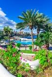 Puerto de Ла Cruz, Тенерифе, Канарские острова, Испания: Красиво бассейны соленой воды в Puerto de Ла Cruz стоковое изображение rf