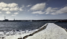 Puerto de Aabenraa en Dinamarca Foto de archivo