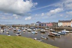 Puerto de Aberaeron - Galés Imagen de archivo libre de regalías