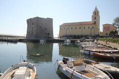 Puerto de Acciaroli Fotos de archivo libres de regalías