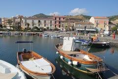 Puerto de Acciaroli Fotografía de archivo