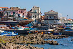 Puerto de Aci Trezza Foto de archivo