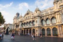 Puerto de aduanas de Barcelona, fragmento de la fachada Imagenes de archivo