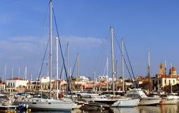 Puerto de Aegina Foto de archivo