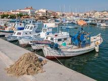 Puerto de Aegina, Grecia Fotos de archivo libres de regalías