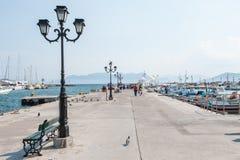 Puerto de Aegina, Grecia Fotografía de archivo libre de regalías