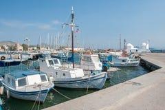 Puerto de Aegina, Grecia Fotos de archivo