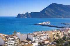 Puerto de Altea - Altea port. Altea port view from old town on a sunny evening royalty free stock photo