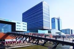 Puerto de Amsterdam, Países Bajos fotografía de archivo