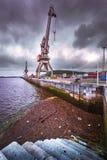 Puerto de Avilés imagen de archivo libre de regalías