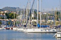 Puerto de Bandol en Francia Fotos de archivo libres de regalías