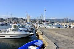 Puerto de Bandol en Francia Imágenes de archivo libres de regalías
