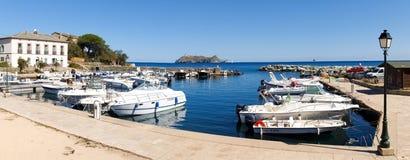Puerto de Barcaggio Foto de archivo libre de regalías